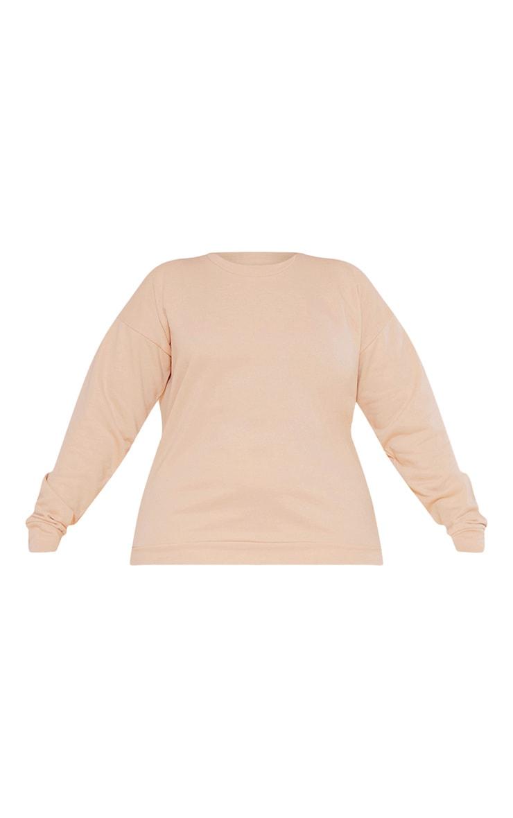 Plus RECYCLE Deep Nude Crew Neck Sweater 3