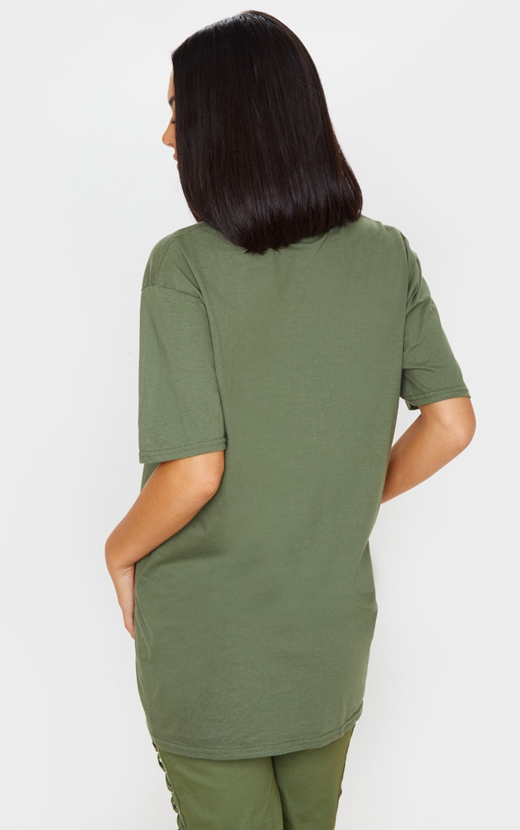 Khaki Dragon Oversized T Shirt 2
