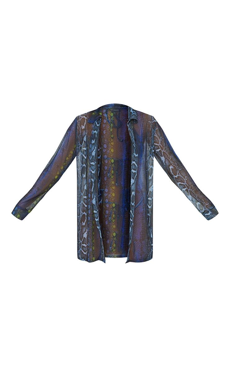 Blue Print Beach Shirt 5