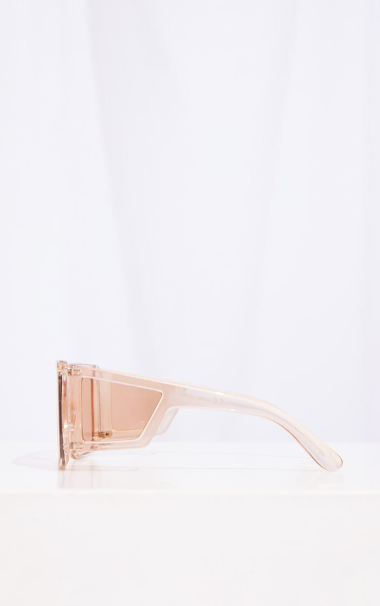 Brown Oversized Triple Lens Squareframe Sunglasses 4