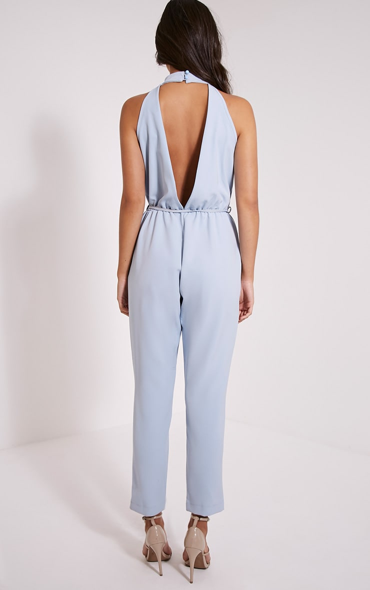 Jeena Powder Blue Cut Out Detail Jumpsuit 2