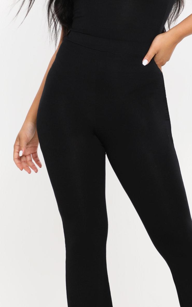 Petite - Pantalon basique en jersey noir à jambes évasées 5