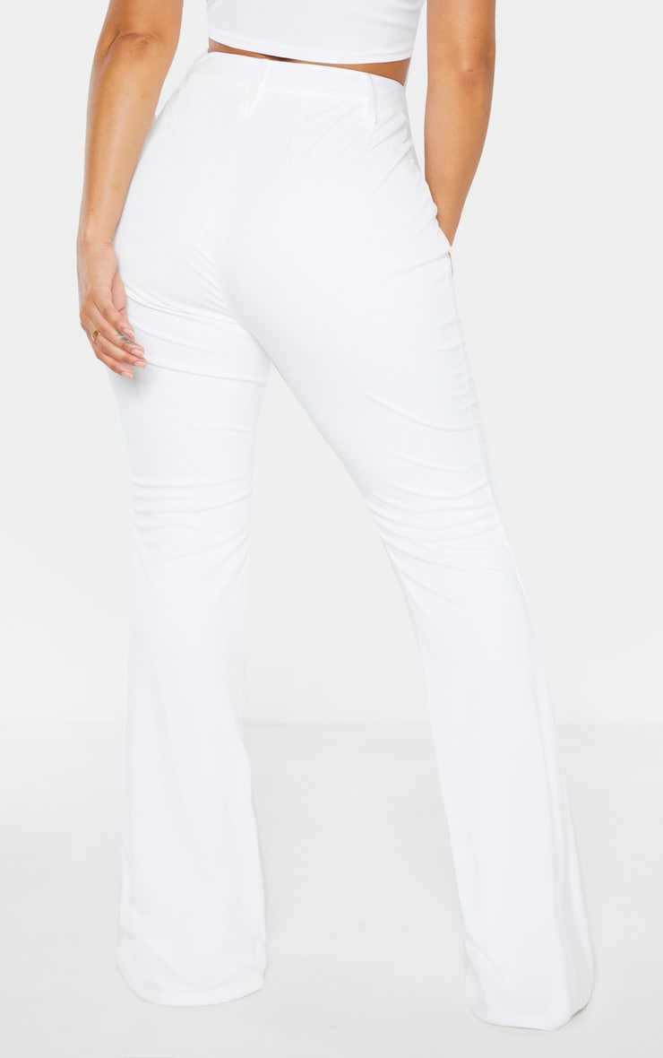 Shape White Lace Up Front Flared Trouser 3