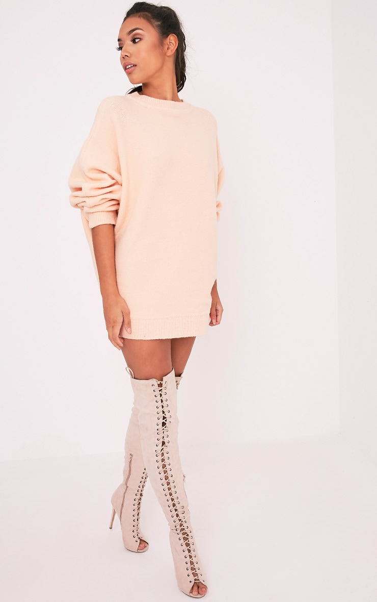 Raysa Nude Oversized Knitted Jumper 6