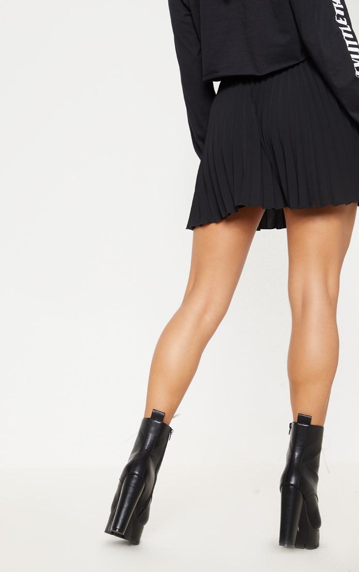 Black Pleated Mini Skirt 3