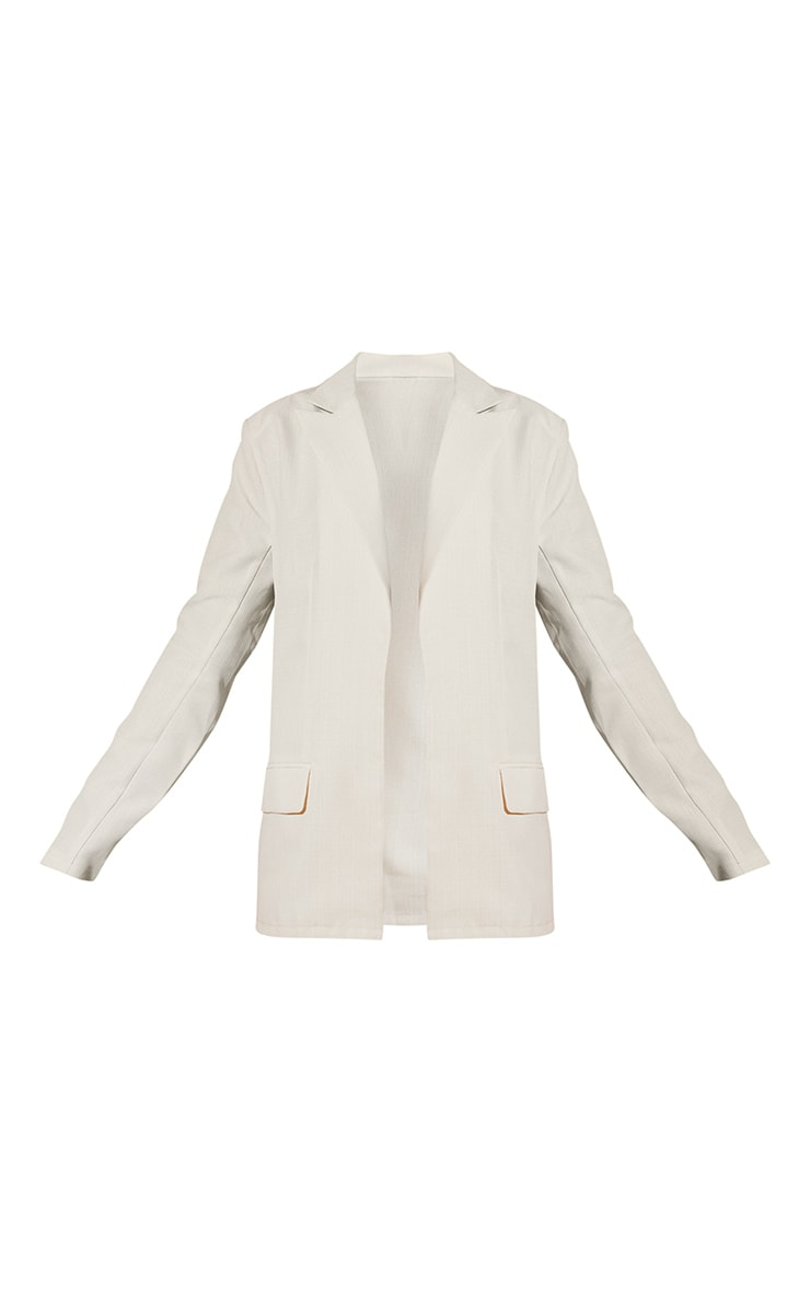 White Tailored Oversized Blazer 5