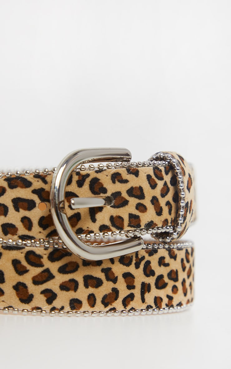 Leopard Print Ball Chain Belt 3