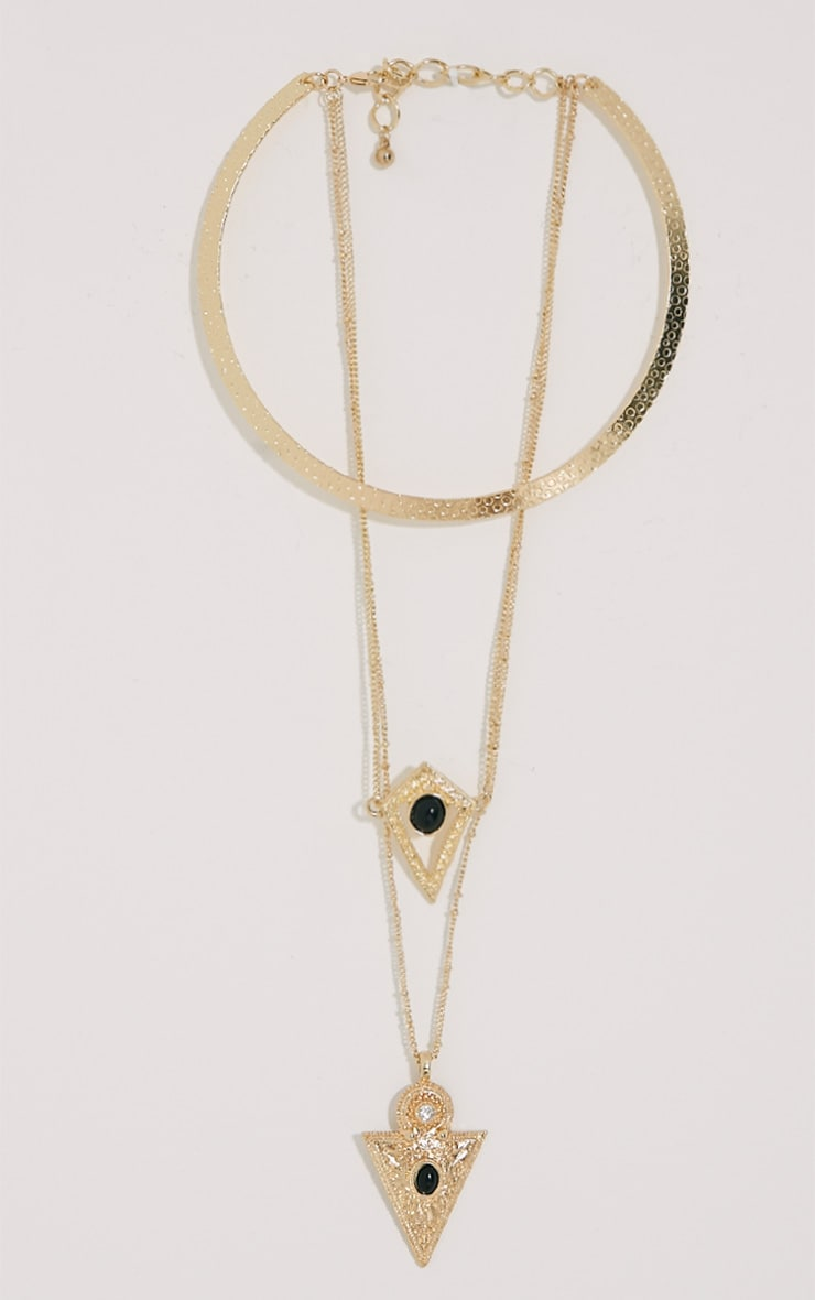 Skye Gold Drop Necklace 1
