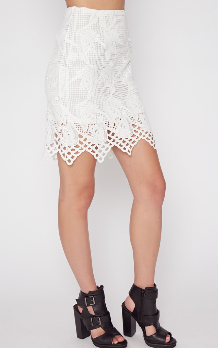 Carla White Lace Skirt  5