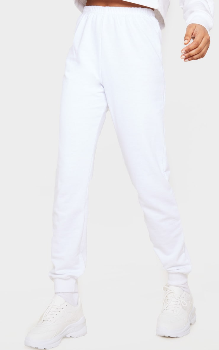 White Skinny Joggers 2