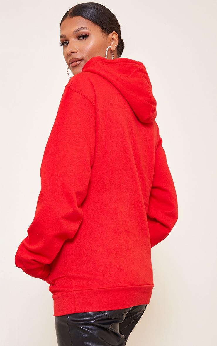 Red Harvard Printed Hoodie 2