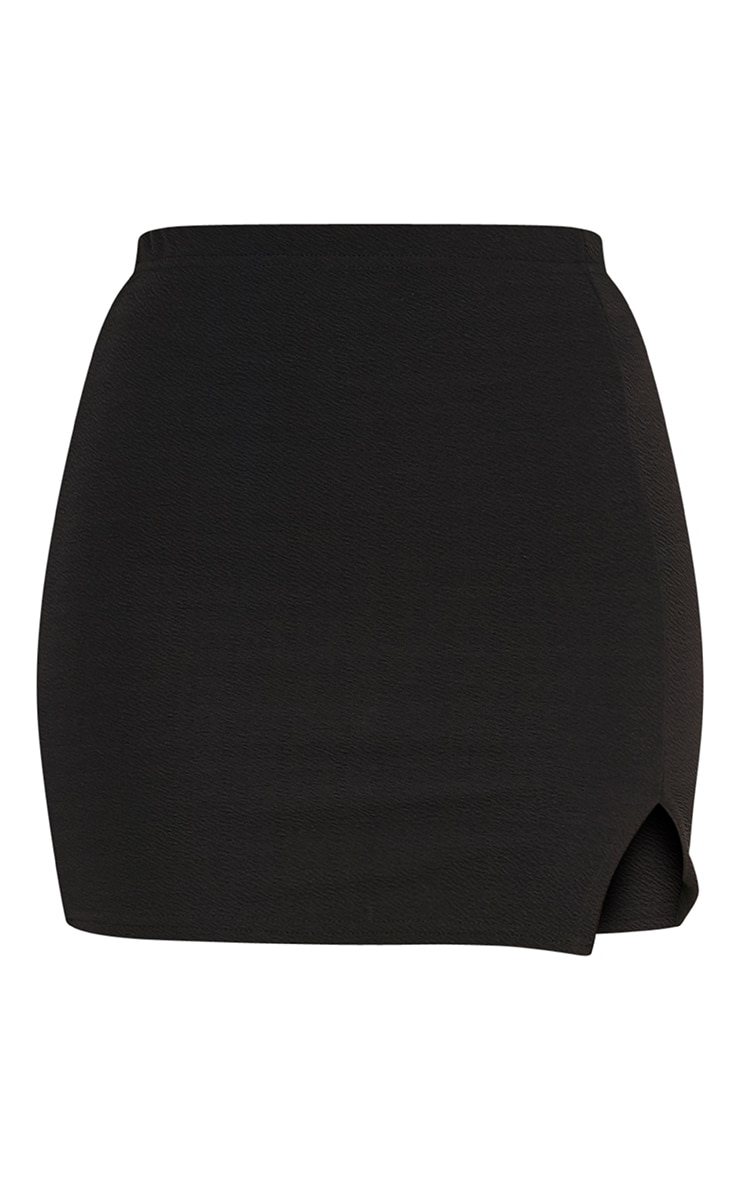 Jemmia Black Split Mini Skirt  3