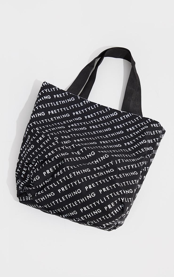 PRETTYLITTLETHING Black And White Reversible Shopper Bag 4