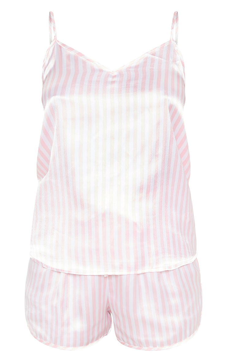 Pink & White Stripe 5 Piece Nightwear Set 3