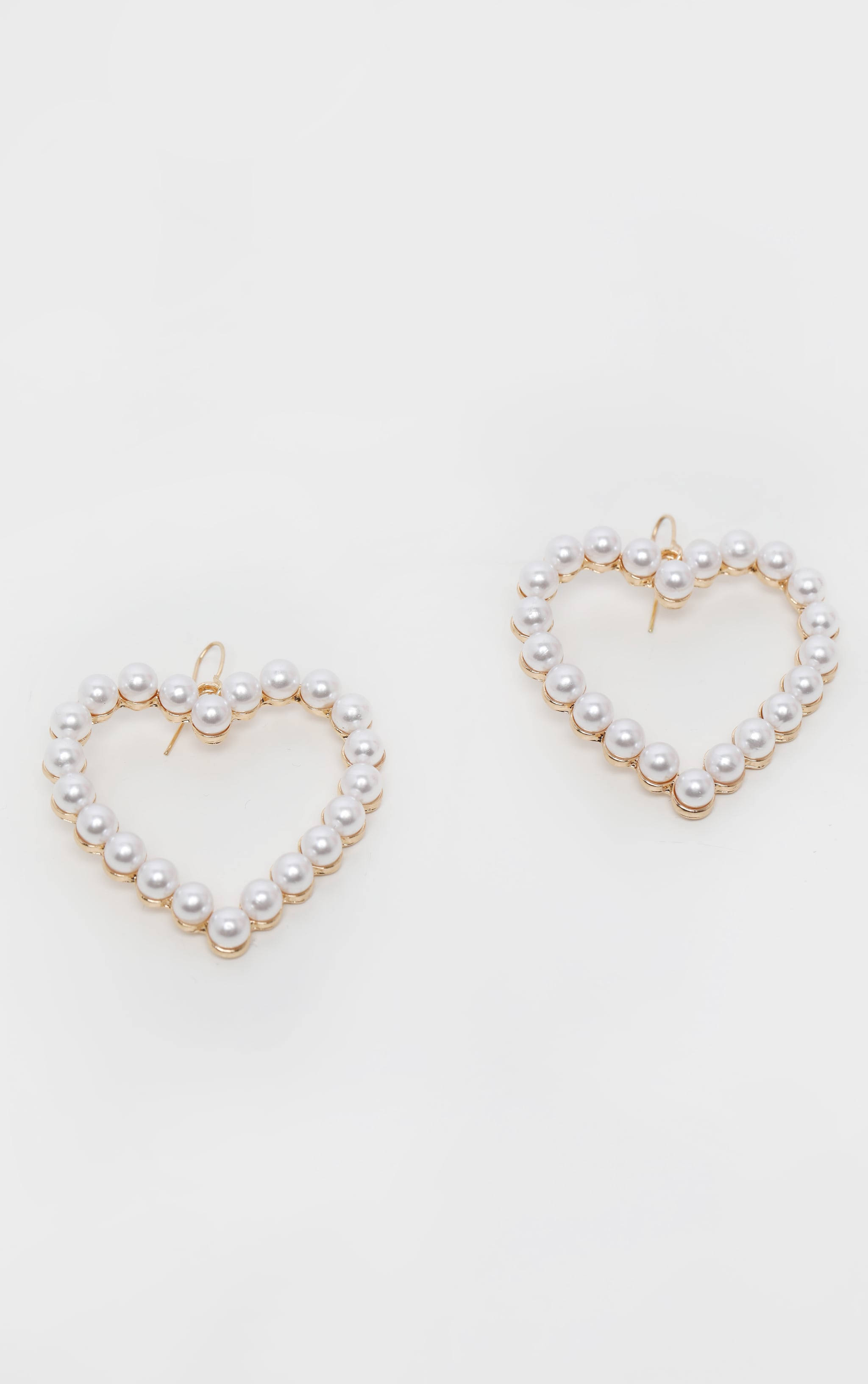 Pearl Heart Drop Earring 2