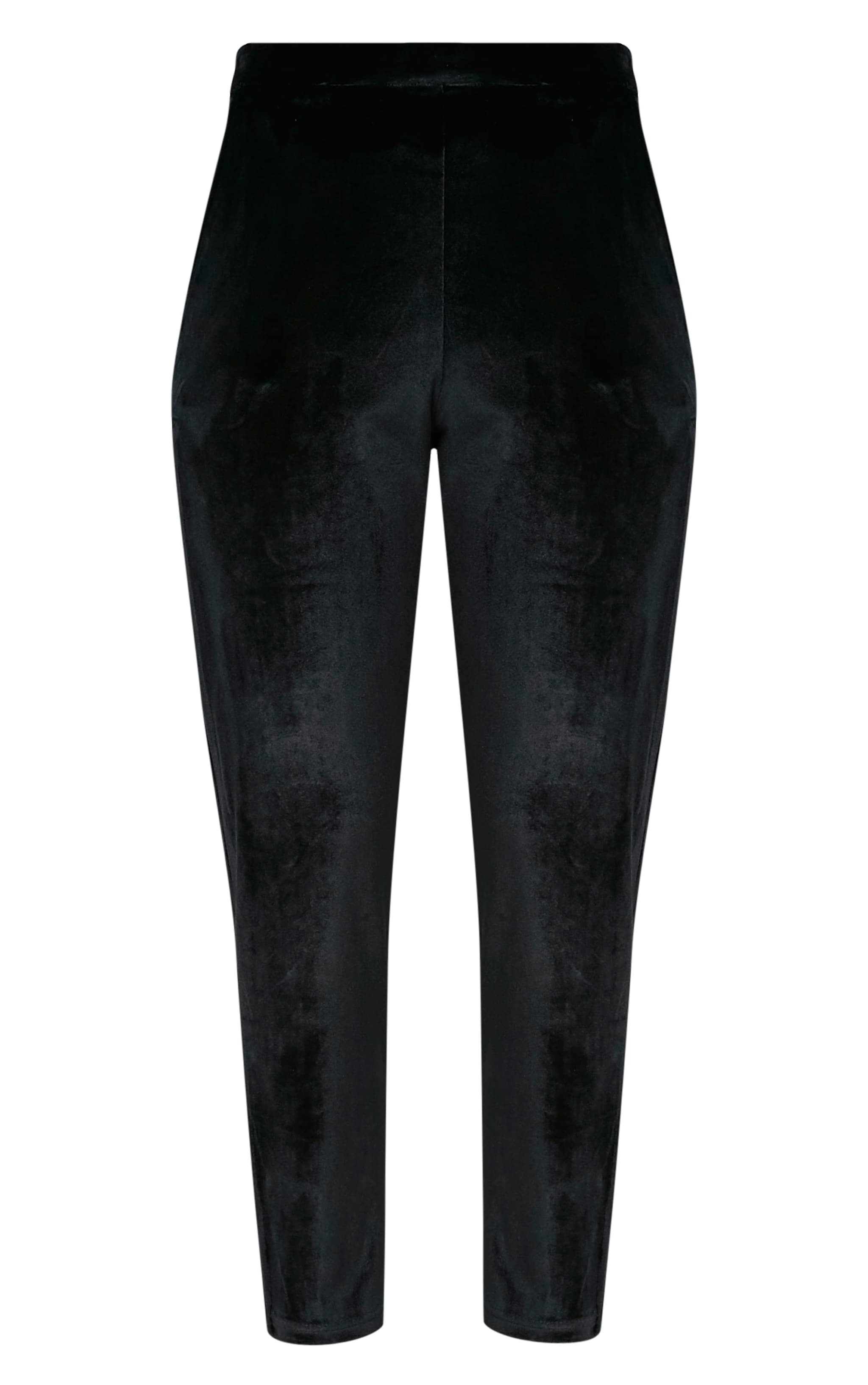 Tasmine pantalon cigarette noir en velours 3