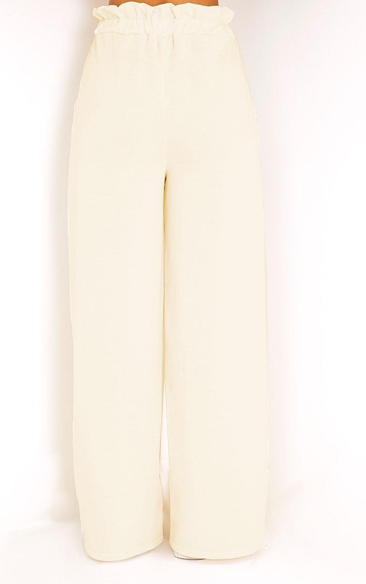 Jessey Cream Paperbag Wide Leg Trousers  4