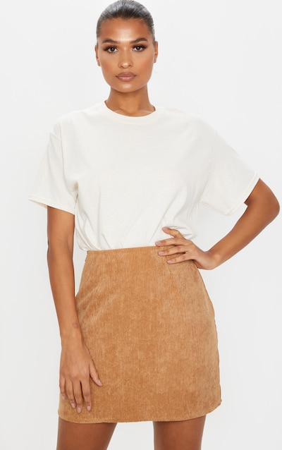 Camel Cord A Line Skirt
