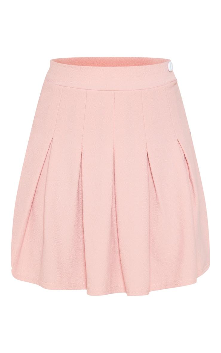 Dusty Pink Pleated Side Split Tennis Skirt 3