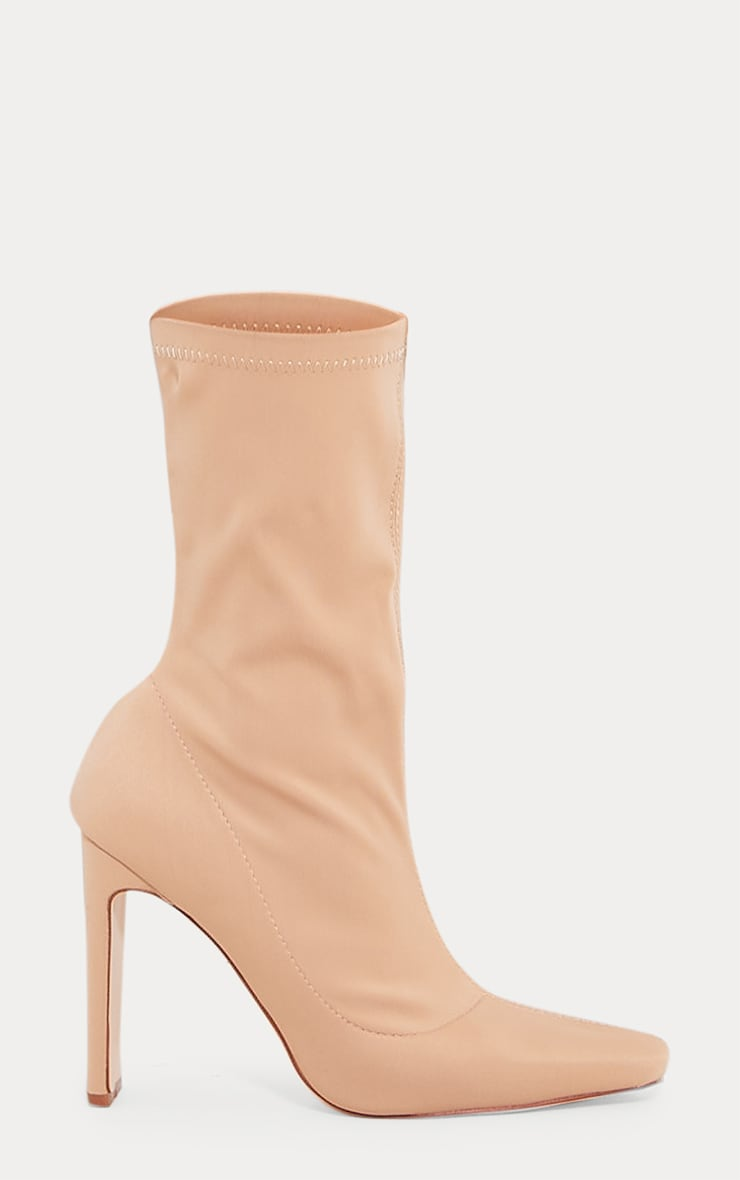 Sand Lycra Heeled Sock Boot 3
