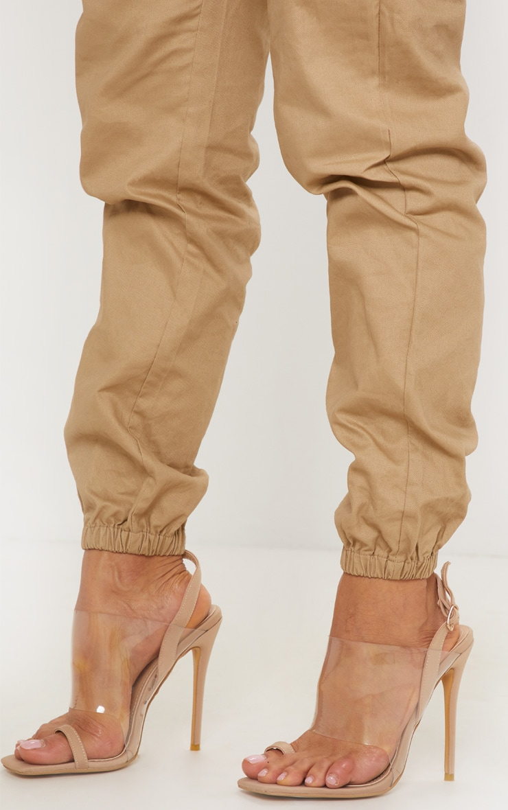 Beige Slingback Clear Sandal