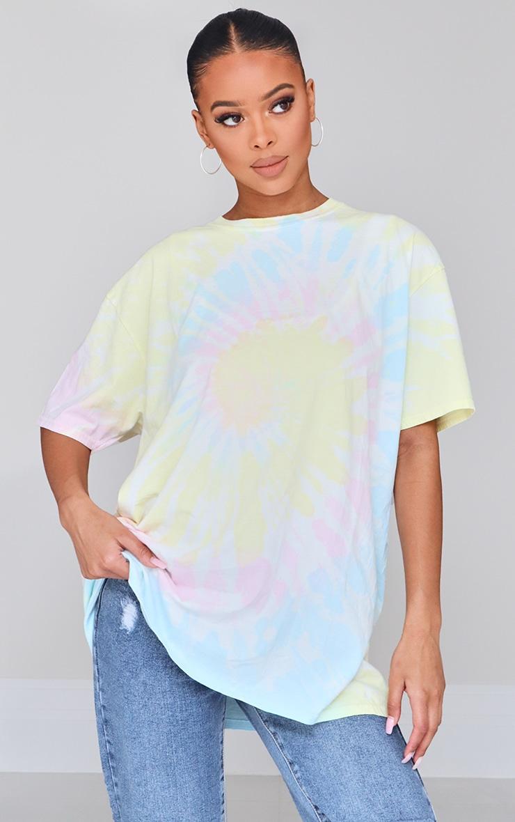 Multicolour Tie Dye Oversized T Shirt 1