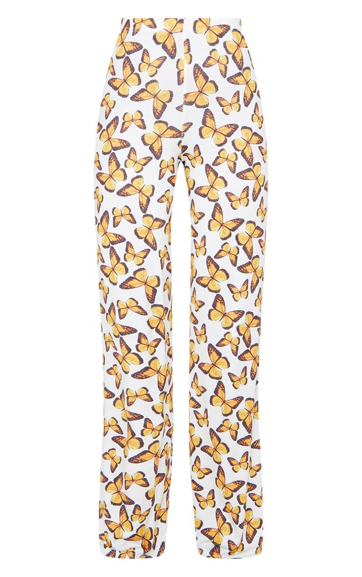 Multi Butterfly Print Wide Leg Pants 5