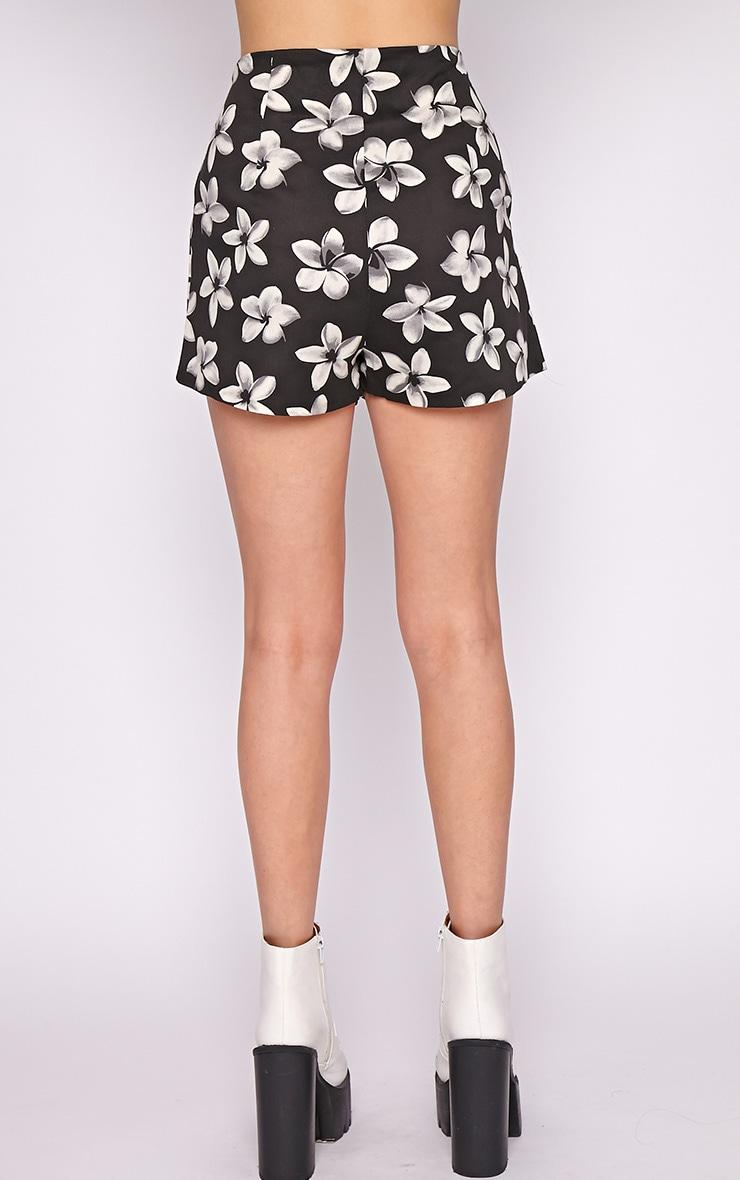 Lacey Black Floral Short  2