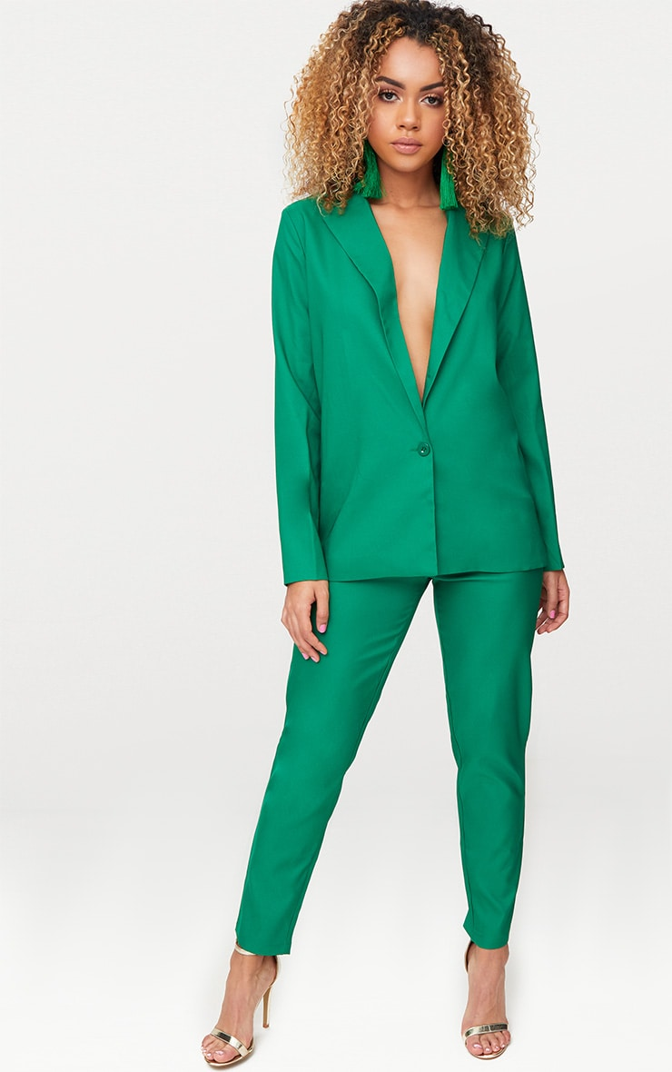 Bright Green Oversized Boyfriend Fit Blazer 1