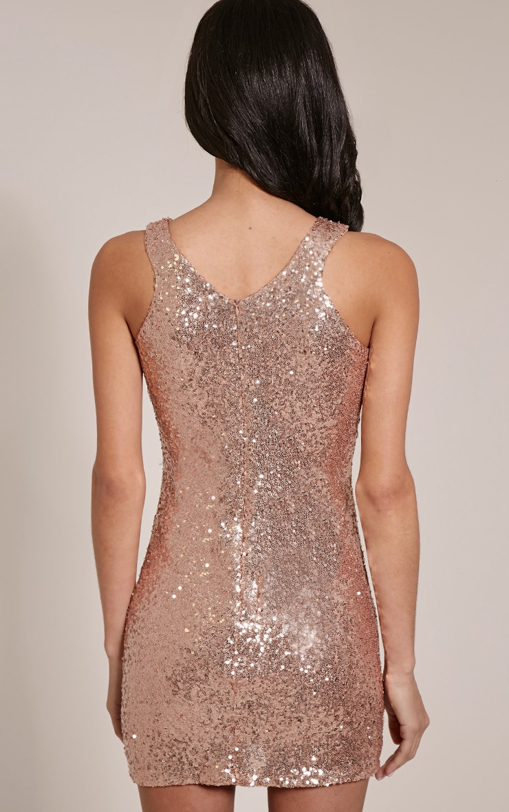 Twiggie Rose Sequin Mini Dress 2