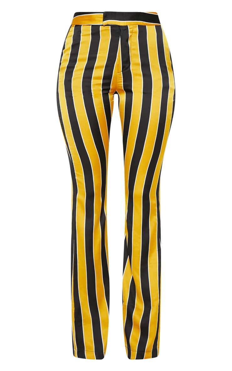 Yellow Stripe Straight Leg Trouser  3
