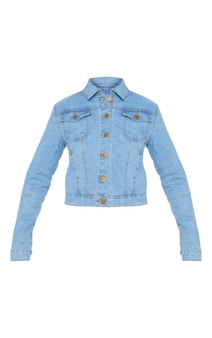 Veste en jean courte délavée 3