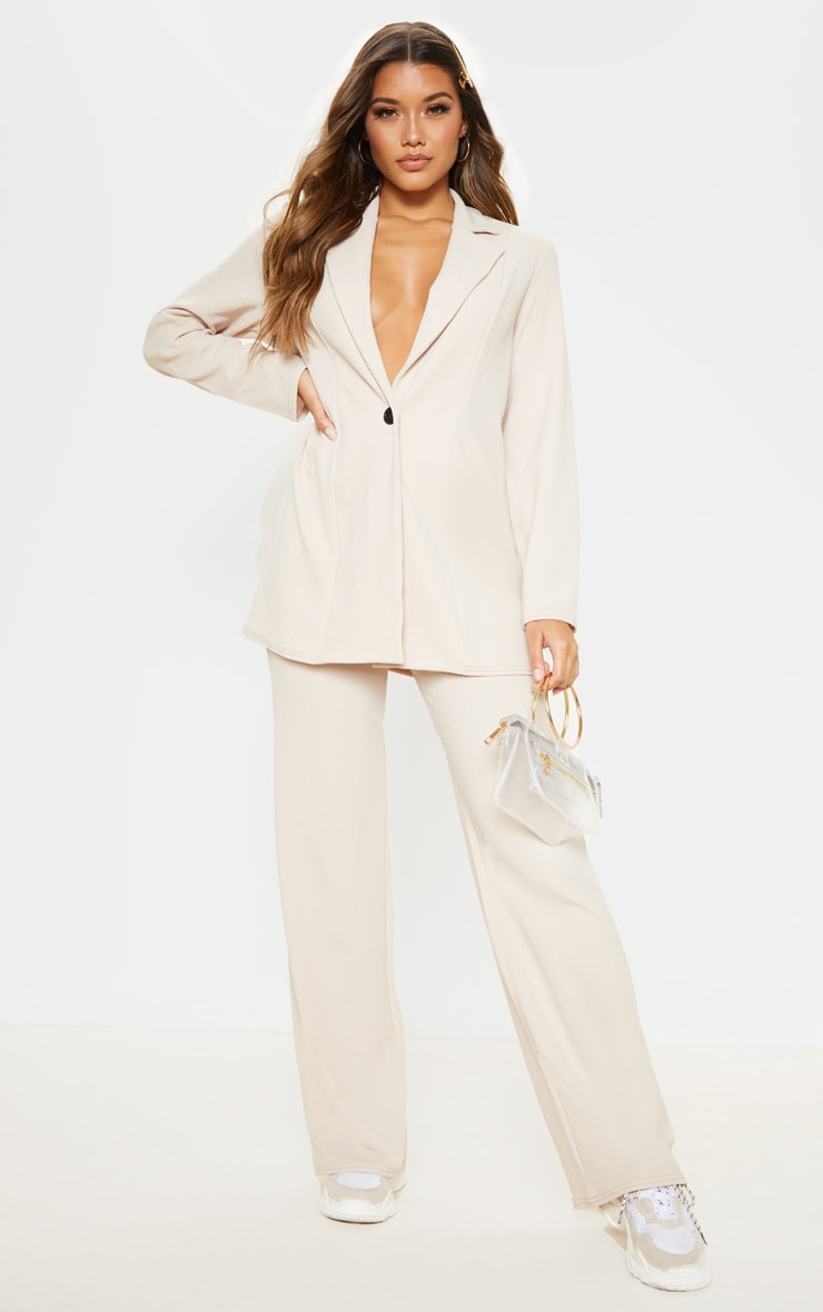 Stone Wide Leg Trouser image 1