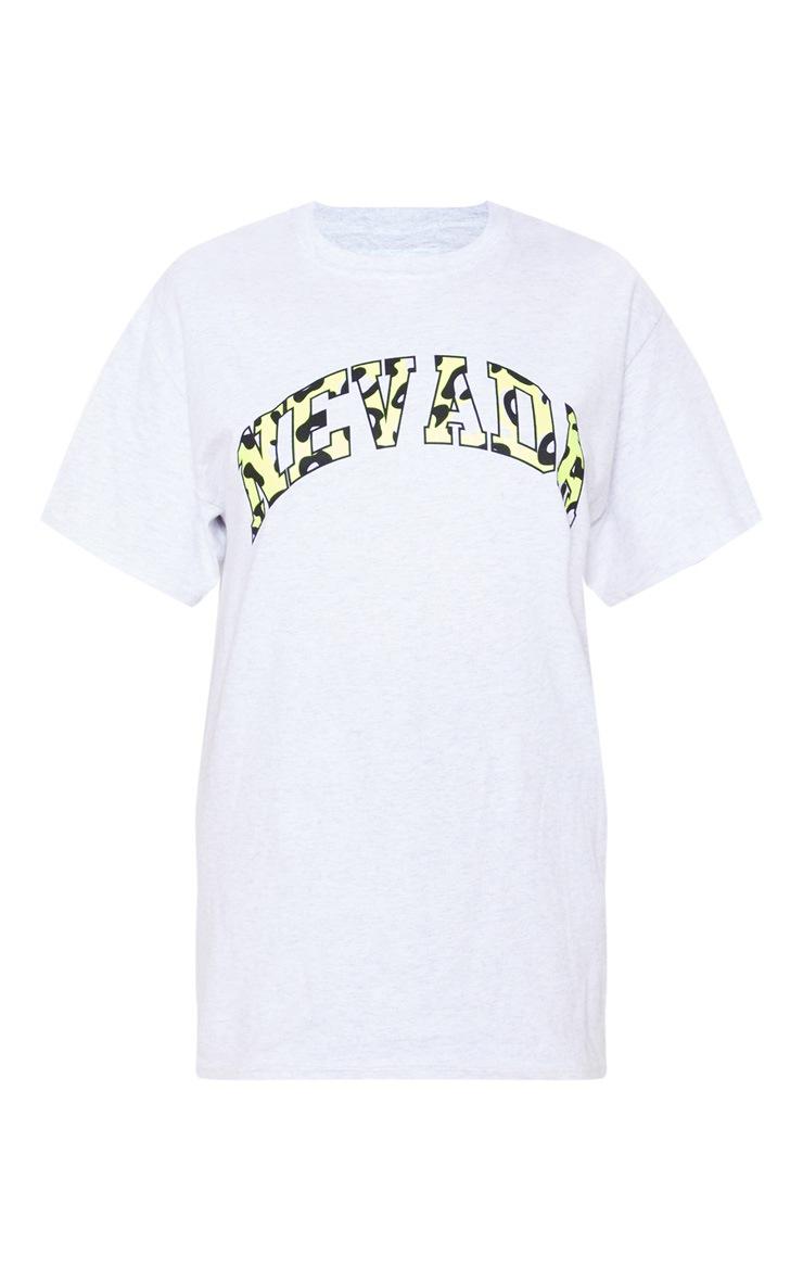 Grey Nevada Multi Slogan Oversized Black T Shirt 3