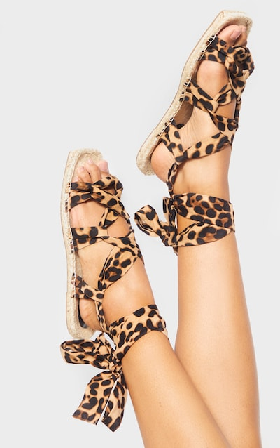 Leopard Espadrille Ghillie Sandal