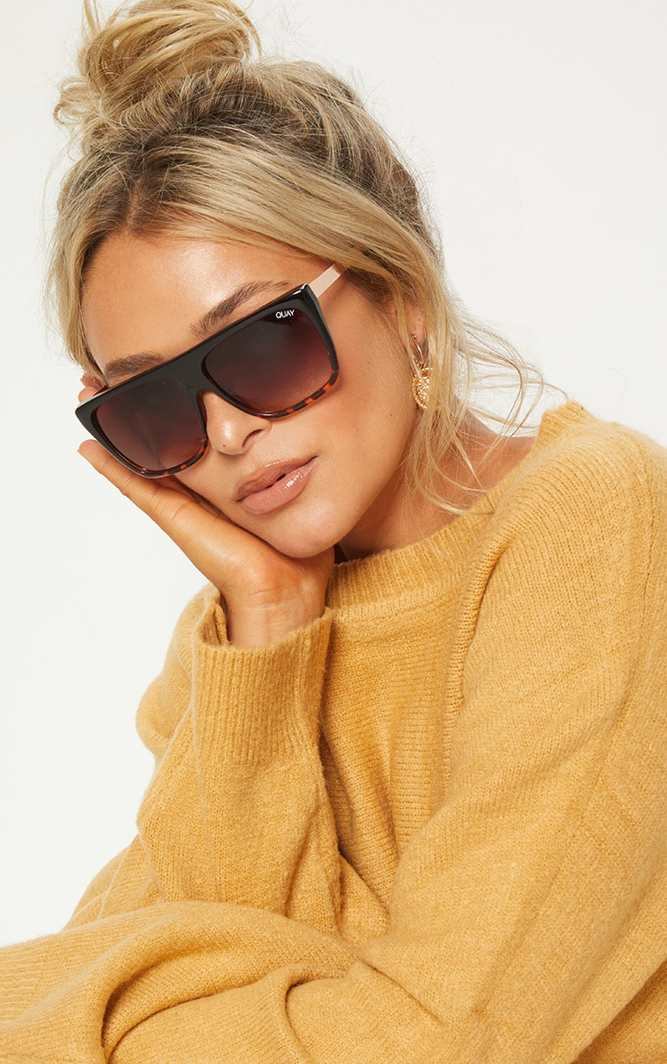 QUAY AUSTRALIA Brown OTL II Oversized Sunglasses