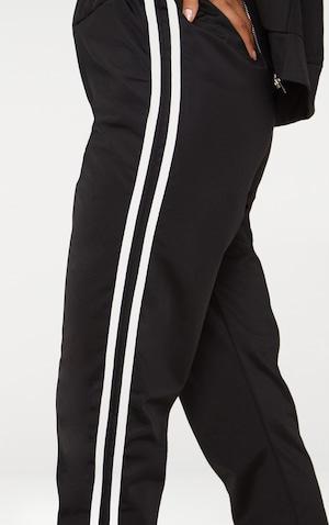 Black Sport Stripe Joggers image 5