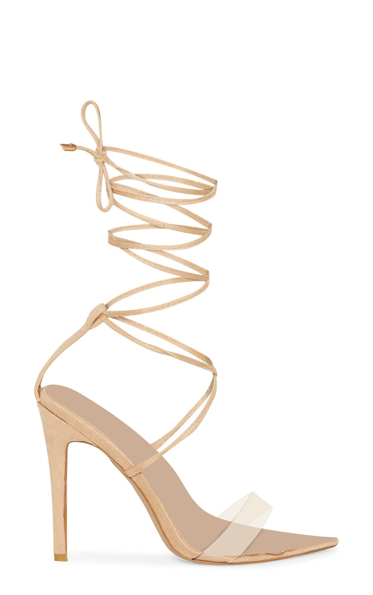 Nude Clear Strap Point Toe Barely There Sandal 3