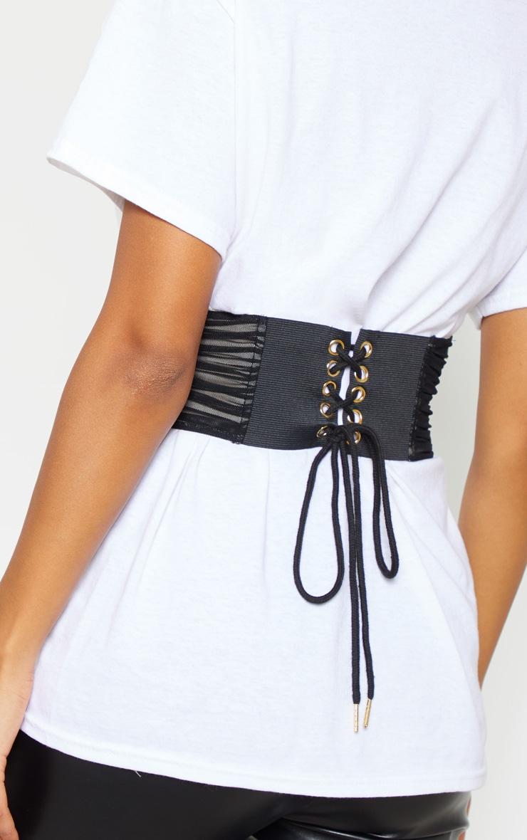 Black Mesh Corset Belt 2