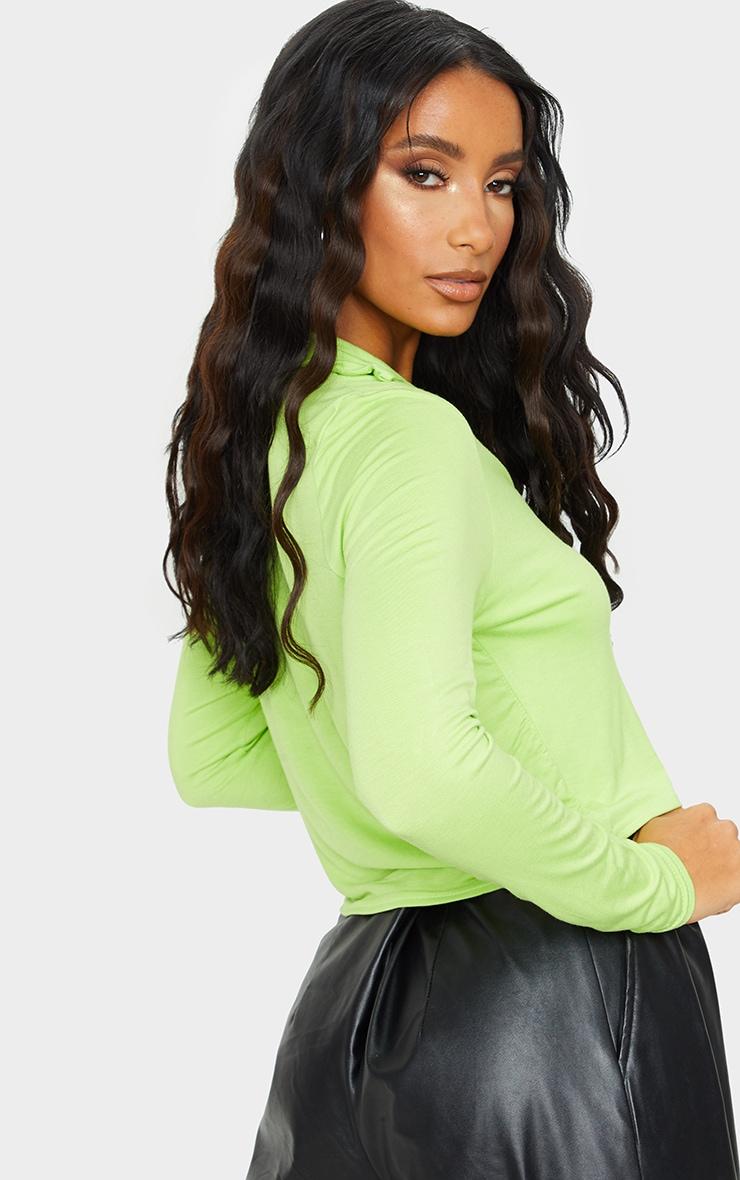 Lime Jersey Button Up Shirt 2