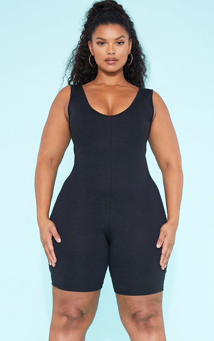 RECYCLED Plus Unitard Black