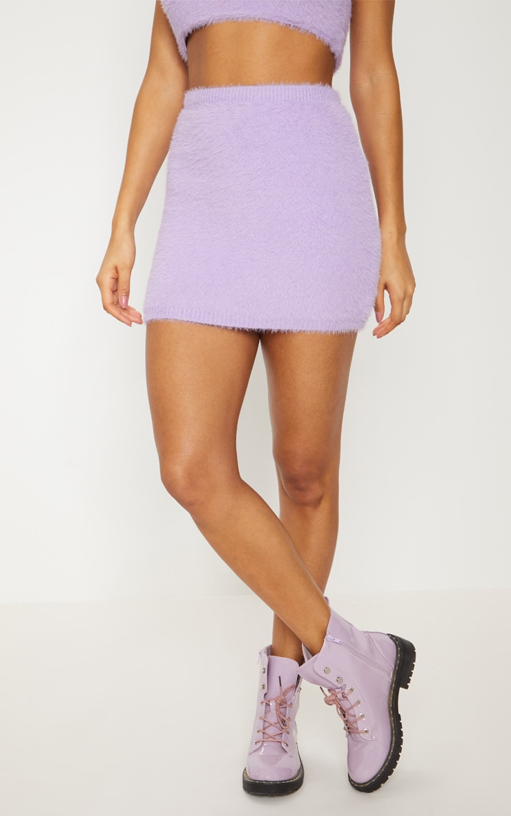 Lilac Eyelash Knit Skirt 4
