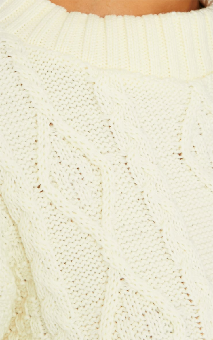 Pheebie Cream Aran Knitted Jumper  4