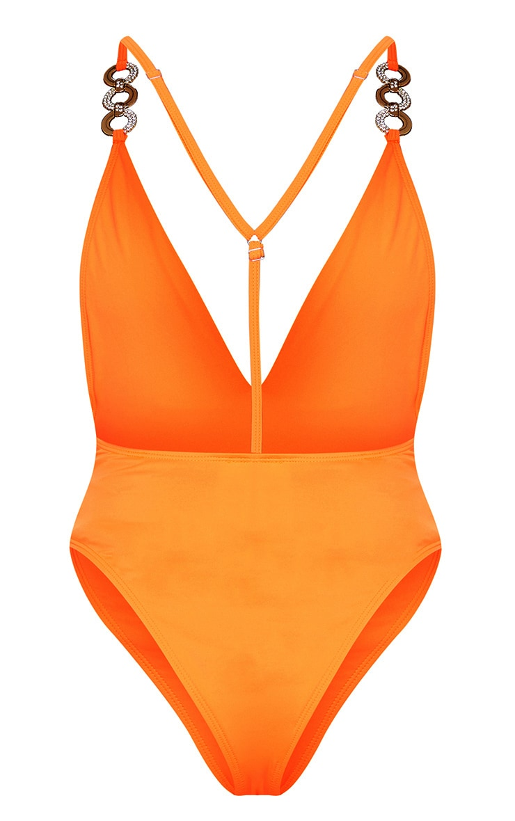 Orange Ring Detail Swimsuit 7