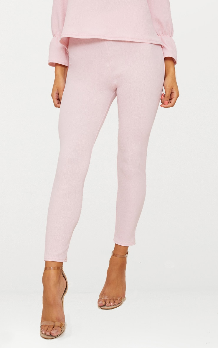 Pale Pink Cropped Trouser 2