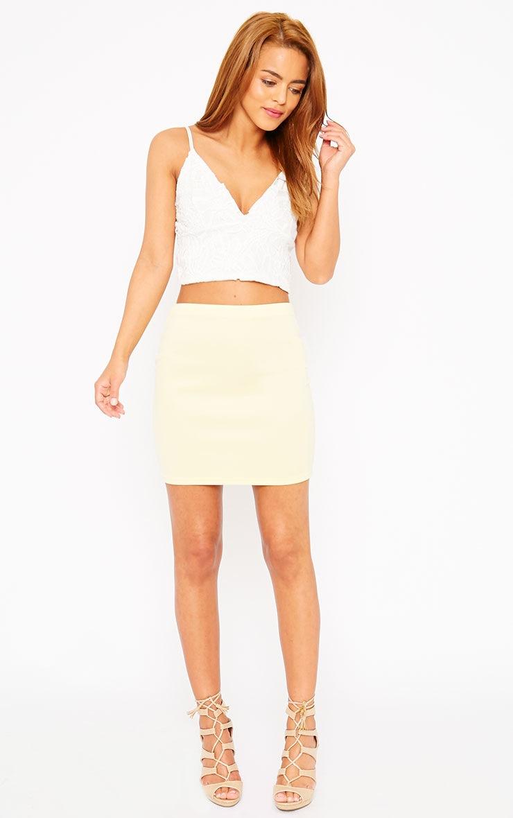 Basic Lemon Scuba Mini Skirt 3