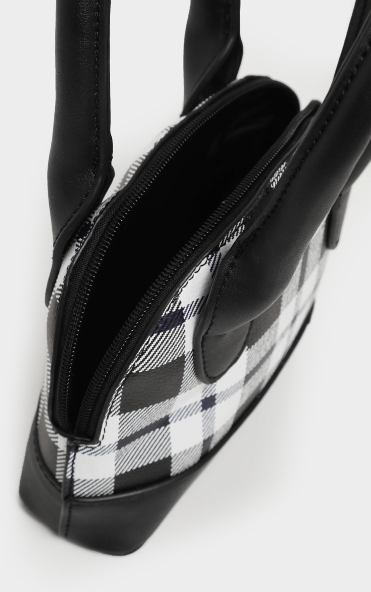 Monochrome Check Rounded Grab Bag 4