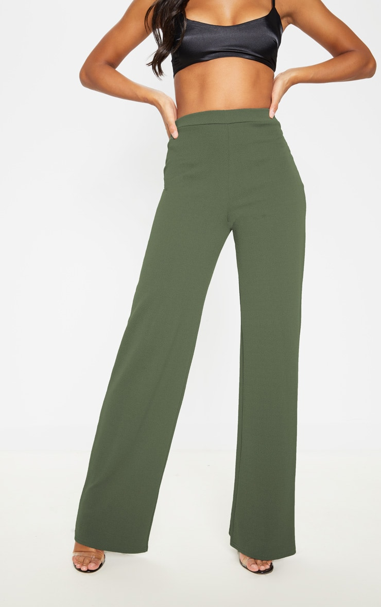 Sage Khaki Wide Leg Pants  2