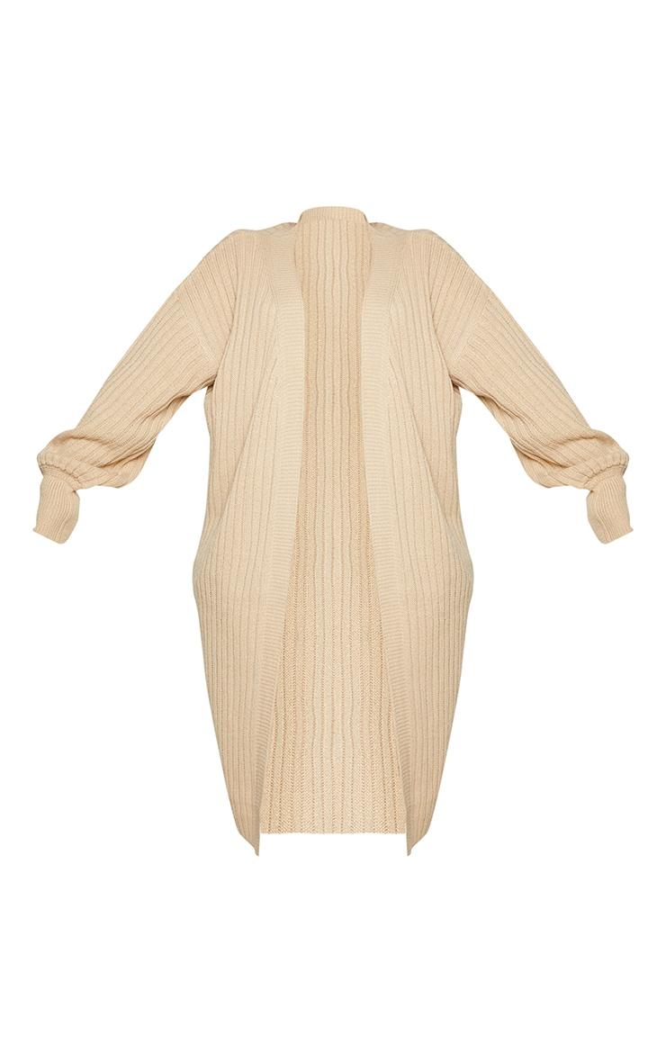 Plus Stone Ribbed Knit Midi Cardigan 5