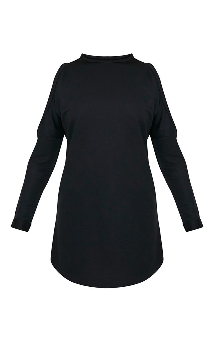 Milene Black Cold Shoulder Sweater Dress 3